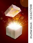 opened gift box that emits a... | Shutterstock . vector #161627048