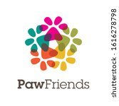 A Mandala Of Paws Forming A...