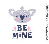 be mine. koala head and... | Shutterstock .eps vector #1616283088