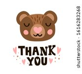thank you. bear head and... | Shutterstock .eps vector #1616283268