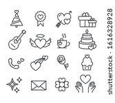 set of love or heart symbol for ...   Shutterstock .eps vector #1616328928
