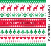 merry christmas pattern with... | Shutterstock .eps vector #161633606