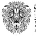 lion head tattoo - stock vector