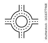 road junction icon design. road ...   Shutterstock .eps vector #1616377468