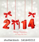 happy new year 2014  new year... | Shutterstock .eps vector #161643212