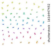 multi colored ants on a white... | Shutterstock .eps vector #1616447452
