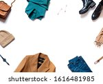 stylish casual warm clothes and ... | Shutterstock . vector #1616481985