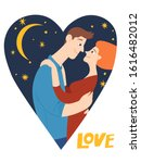vector romantic valentines day... | Shutterstock .eps vector #1616482012