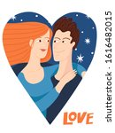 vector romantic valentines day... | Shutterstock .eps vector #1616482015