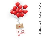 valentine card concept red... | Shutterstock .eps vector #1616516545