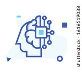 artificial intelligence icon .... | Shutterstock .eps vector #1616519038