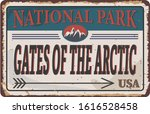 Gates of the Arctic National Park, USA outdoor adventure illustration