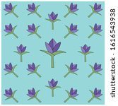 floral pattern with a flat... | Shutterstock .eps vector #1616543938