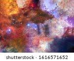 The Lagoon Nebula In Bright...