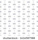 outline car icon pattern... | Shutterstock .eps vector #1616587588