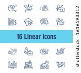 finance icon set and coins...