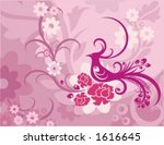 vector background with floral... | Shutterstock .eps vector #1616645
