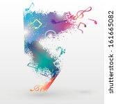 music concept  festive vector...   Shutterstock .eps vector #161665082