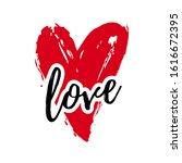love illustration with heart...   Shutterstock .eps vector #1616672395