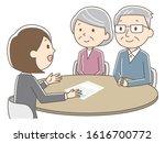 illustration of elderly couple...   Shutterstock .eps vector #1616700772