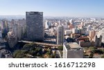 aerial view of buildings near...   Shutterstock . vector #1616712298