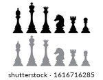silhouette icons from chess... | Shutterstock .eps vector #1616716285
