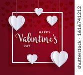 valentine satisfied valentines... | Shutterstock .eps vector #1616741212