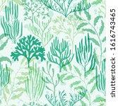 ocean corals seamless pattern.... | Shutterstock .eps vector #1616743465