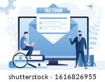 online tax. mail with documents ...   Shutterstock .eps vector #1616826955