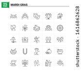 25 mardi gras icon set. vector... | Shutterstock .eps vector #1616862628