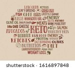 keto diet word cloud with... | Shutterstock .eps vector #1616897848