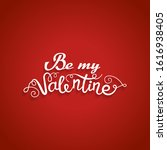 valentine card with romantic...   Shutterstock .eps vector #1616938405