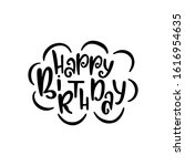 happy birthday hand drawn... | Shutterstock .eps vector #1616954635
