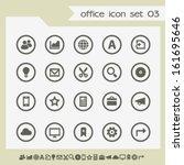 modern flat design office icons ...