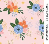 cute flowers seamless pattern... | Shutterstock .eps vector #1616962258