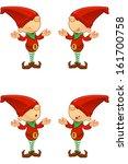 red elf   confused | Shutterstock .eps vector #161700758