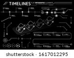 timelines flat infographic...   Shutterstock .eps vector #1617012295