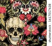 seamless pattern  background... | Shutterstock .eps vector #1617017638