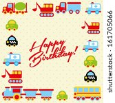 happy birthday design over... | Shutterstock .eps vector #161705066