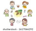 people suffering from hay fever   Shutterstock .eps vector #1617066292