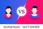 vs screen. blue and red... | Shutterstock .eps vector #1617104305