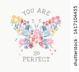 perfect slogan with colorful... | Shutterstock .eps vector #1617104455