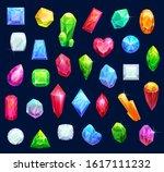 gemstones  gem jewels  diamonds ... | Shutterstock .eps vector #1617111232