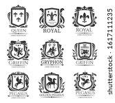 heraldic shields  heraldry... | Shutterstock .eps vector #1617111235