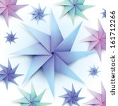 colorful origami snowflakes for winter background