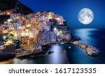 Full Moon Rising Over Manarola...