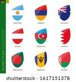 rugby flag collection. rugby... | Shutterstock .eps vector #1617151378