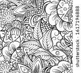 tracery seamless pattern.... | Shutterstock .eps vector #1617196888