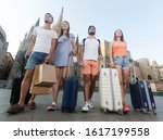 Group Of Four Adult  Traveling...