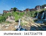 the furongzhen water in hunan...   Shutterstock . vector #1617216778